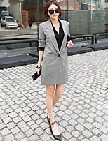 Damen Mantel  -  Leger Langarm Polyester