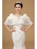 The new luxury imitation fox fur the bride wedding dress wool shawls White winter warm shawl