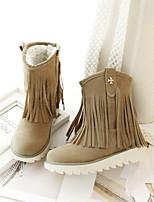 Zapatos de mujer - Tacón Bajo - Botas a la Moda - Botas - Exterior / Vestido / Casual - Ante - Negro / Amarillo / Rojo / Beige