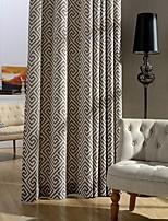 (Two Panel)Modern Printed Cotton Energy Saving Curtain
