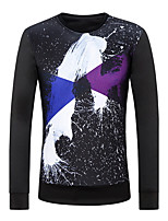 Men's Round Neck Fashion Hedging Long Sleeved printing Sweater