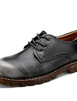 Men's Shoes Outdoor / Athletic / Casual Leather Oxfords Black / Brown