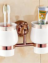 Suporte para Escova de Dentes / Gadget de Banheiro , Neoclássico Ouro Rosa Montagem de Parede