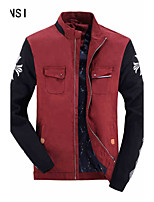 New winter men's casual jacket sleeve cotton jacket collar knitted jacquard fashion