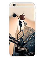 Scenery Signpost Pattern TPU Material Phone Case for iPhone 6s 6 Plus