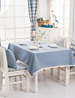 Light Blue Solid Lacy  Design  Jacquard  Tablecloths Fabric Tea Tablecloth