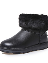 Women's Shoes Flat Heel Round Toe Boots Casual Black / Blue / Red / Gold