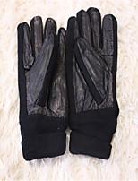 Winter Warm Men's Outdoor Leather Warm Screw-Type Gloves