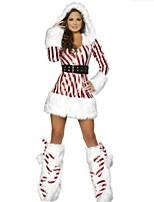 Performance Women's Christmas Lady Costume(dress+belt+legwarm)