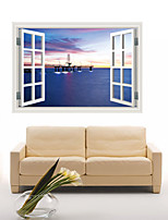 3D Wall Stickers Wall Decals Style Harbour Night Fashion Creative Personality PVC Wall Stickers