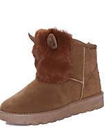 Women's Shoes Fleece / Low Heel Snow Boots / Bootie / Comfort / Round Toe Boots Casual Black / Brown / Pink