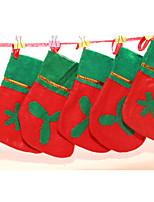 Navidad - Rojo / Verde - Textil - Adornos -