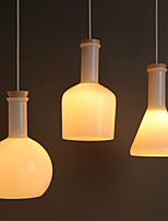 E27 15*26CM Line 1M Contemporary And Contracted Creative Magic White Glass Bottle Line Droplight Led