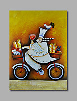 Hand-Painted Oil Painting on Canvas Wall Art Cartoon Food Dinning Room One Panel Ready to Hang