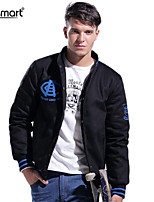 Lesmart Men's Fall Winter Casual Thickened Cotton-padded Stand Collar Armband Outerwear Leisure Sport Jacket