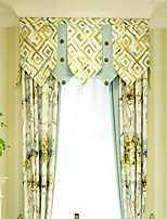 (Two Panel)Country  Floral Cotton Linen Blend Eco-friendly Curtain(Valance and Sheer Not Included)