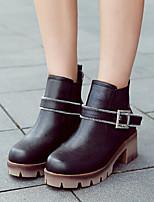Women's Shoes Low Heel Bootie Boots Casual Black