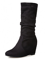 Women's Shoes  Wedge Heel Round Toe Boots Casual Black / Brown / Pink