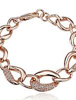 Tennis Armband Unisex Kristall 18K Guldpläterad