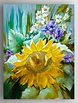Oil Painting Impression Sunflower Flower Painting Hand Painted Canvas with Stretched Framed Ready to Hang