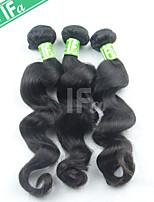 3pcs indiennes de cheveux humains / lot lâche vague couleur naturelle extension de cheveux 12-30 pouces