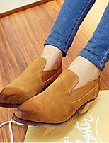 Women's Shoes Chunky Heel Heels / Pointed Toe Heels Outdoor / Casual Black / Brown