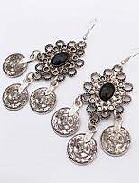 Women's European Style Fashion Flower Small Coins Alloy Earrings