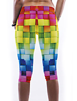 Women's Colorful Plaid Print Yoga Leggings