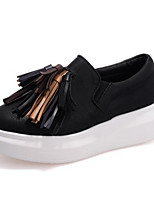 Women's Shoes   Wedge Heel Round Toe Loafers Casual Black