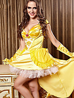 Performance Dresses Women's Performance Polyester Lace 4 Pieces Yellow