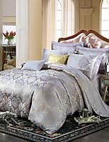 estilo retro royal cama jacquard roxo cinza set 4 peças