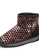 Women's Shoes Low Heel Round Toe Boots Casual Red / White / Multi-color