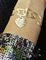 5pcs Jewelry Tattoos Gold Flash Tatoo Metallic Temporary Tattoo Waterproof Tatoos