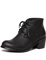 Women's Shoes  Chunky Heel Combat Boots / Round Toe Boots Outdoor / Casual Black / Brown