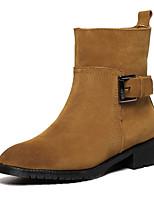 Women's Shoes Heel Comfort Boots Outdoor Black / Brown / Red