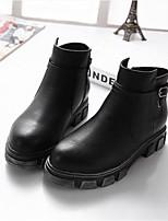 Chaussures Femme - Décontracté - Noir / Marron - Talon Bas - Bout Arrondi - Bottes - Similicuir