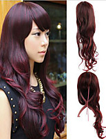 Europe And The United States Wine Red Curly Hair Wig