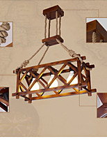 American Country Restaurant Wood Rope Chandelier lamps
