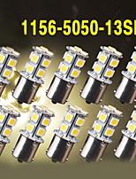 10X Warm White Car RV 1156 BA15S 13-SMD 5050 LED Backup Reverse Light bulbs 1141