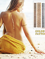 Gold And Silver Bracelets Tattoo Fashion Temporary Tattoo Stickers Temporary Body Art Waterproof Tattoo Pattern HC5024