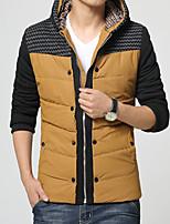In the winter of 2016 new men's thick warm cotton padded jacket slim hooded Korean tide tide men's coat