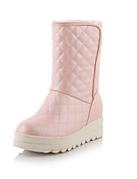 Women's Shoes Platform Comfort Boots Outdoor Black / Blue / Pink / White