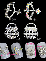 5pcs Archer / Bag  Metal Nail Jewelry