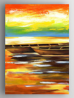 Oil Painting  Boats  Hand Painted Canvas with Stretched Framed Ready to Hang