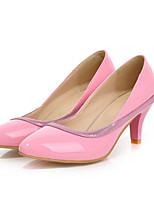Women's Shoes Leatherette Stiletto Heel Heels Heels Outdoor / Dress / Casual Black / Pink / Beige