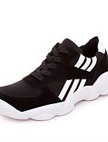 Scarpe Donna - Sneakers alla moda - Casual - Comoda - Piatto - Tulle / Finto camoscio - Nero / Rosso