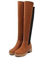 Chaussures Femme - Bureau & Travail / Habillé / Décontracté - Noir / Marron / Gris - Gros Talon - Bottes à la Mode - Bottes -Laine