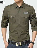 I wash the shirt cotton long sleeved frock V-neck shirt outdoor leisure coat color code DP loose