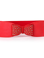 Women PU Fashion Elegant Bowknot Wide Belt , Party / Casual Alloy / Leather