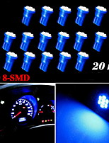 20X Ultra Blue Wedge T10 W5W 192 194 168 8-SMD LED Bulbs Gauge Instrument Light